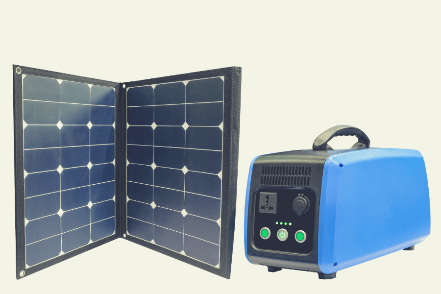solar generator and solar panel picture