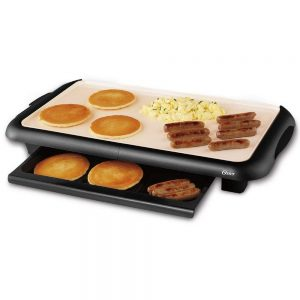 oster titanium electric griddle cooking breakfast