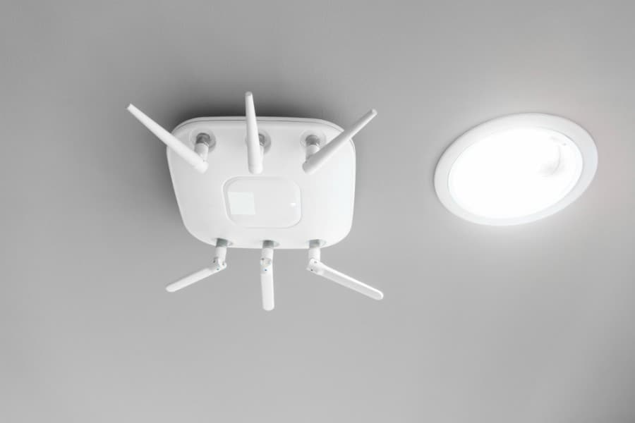 wireless access point mounted to ceiling