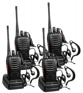 Arcshell Long Range Walkie Talkie two way radio with earpiece